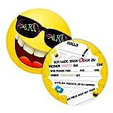 12 Einladungskarten für Geburtstag und Partys, die Smiley Karten sind die perfekten Einladungen...