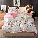 nobrand Bequeme und atmungsaktive Bettwsche mit Bettbezug mit Reiverschluss und 2 Kissenbezgen sowie...