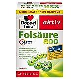 Doppelherz Folsäure 800 DEPOT – Mit Vitamin C, B6 und B12 zur Unterstützung der normalen...
