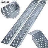 MASKO® 2X Auffahrrampe 400kg   Verladerampe   Verladeschiene   verzinkter Stahl   Antirutsch  ...