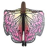 Yowablo Peacock Wings Schal Schals Ladies Nymph Pixie Poncho Kostmzubehr Damen ( 168*135cm,5F )