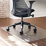Polycarbonat Bodenschutzmatte transparent Bürostuhlunterlage Stuhlmatte Büromatten für Hartböden...