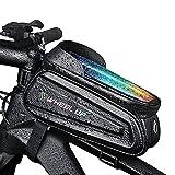 ZCPDP Fahrrad Fahrrad Vorne Oberrohr Tasche 7,0 Zoll Touchscreen Handytasche wasserdichte...