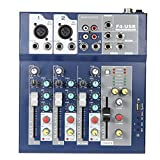 Professionelle Metall-4-Kanal-Mixer Lively Mischpult 3-Band EQ USB-Funktion 48V Fantasm mit Bulit-in...