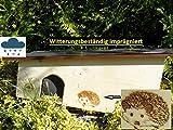XXXL Igelhaus 80cm x 40cm x 32cm Igelhotel 18mm Fichtenholz Witterungsbeständig Winterfest...