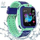 PTHTECHUS Kinder GPS Intelligente Uhr Wasserdicht, Smartwatch GPS Tracker mit Kinder SOS Handy...