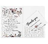 Hochzeitseinladung Hochzeit Einladungskarten Tri-Fold Hohl Business Einladungskarten , 20 Stück...