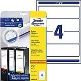 AVERY Zweckform L6061-10 Ordnerrücken Etiketten (mit ultragrip, 59 x 192 mm auf DIN A4, breit/kurz,...
