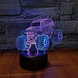 Traktor-Styling 3D Illusion Lampen Led Nachtlicht 16 Farben Touch-Schalter Schlafzimmer Schreibtisch...