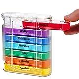 Tablettenbox 7 tage 4 mal am Tag klein Medikamentenbox 28 Fächer Pillenbox für 7 Tage Staubdichtes...