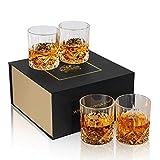 KANARS 4er Set Whisky Glser, Bleifrei Kristallglser, Whiskey Glas, 300ml, Schne Geschenk Box,...