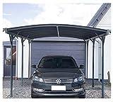 Home Deluxe - Design Carport anthrazit - Falo - Maße: 505 x 300 x 226/240 cm - komplett inkl....