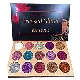 Beauty Glazed Glitzer Lidschatten Palette,15 Farben Shimmer Ultra Pigmented Makeup Lidschatten...