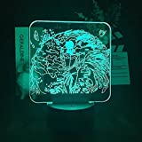 3D Anime Licht Nachtlicht Illusion Licht Nachtlicht Jiu-Jitsu Kaisen Wujo Wu Home Bluetooth...