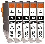SupplyGuy 5 Druckerpatronen kompatibel mit Canon CLI-8 CLI-8bk Schwarz für Pixma IP6600 IP6600D...