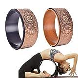 Yunhigh Yoga-Rad-Holz zum Dehnen, natürliches Kork-Fitness-Rad zur Verbesserung der Rückenbiegung...