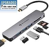 USB-C-Hub-Multiport-Adapter – 7 in 1 tragbarer Platz, Aluminium-Dongle mit 4K HDMI-Ausgang, 3 USB...