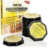 com-four® 8X Ungeziefer Köder-Falle, anwendungsfertige Köder-Dosen zur zuverlässigen Bekämpfung...