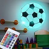 Fußball Decken Wand Lampe dimmbar Fernbedienung Kinder Leuchte im Set inkl RGB LED Leuchtmittel