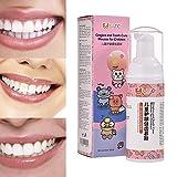 Bulary 60 ML Kinderzahnpasta, Kinderschaum-Zahnpasta Mit Erdbeergeschmack, Geeignet Für Kinder...