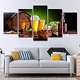 Moderne minimalistische dekorative Malerei Fass Flasche Hopfen Malz Hotel gemalt Bierkrug Poster...
