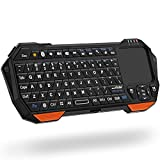 Fosmon Mini-Bluetooth-Tastatur (QWERTY-Tastatur), kabellos, tragbar, leicht, mit integriertem...