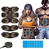 ANLAN EMS Bauchmuskeltrainer Elektronische Muskelstimulation Muskelstimulator USB Wiederaufladbar...