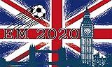 Fanshop Lünen Fahne - Flagge - EM 2020 - Big Ben - London - GB - 90x150 cm - Hissfahne mit Ösen -...