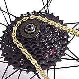 Alinory Ultraleichte Fahrrad-Ersatz-Fahrradkette, 9-Gang-Fahrradkette Verschleißfeste...
