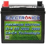 U1(9) 30AH 300A (EN) Green Power Batterie für Aufsitzrasenmäher, Gartengeräte, Starterbatterie,...