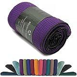 Rutschfestes Yogahandtuch mit Silikon-Dots (Noppen) Chandra Anti-Slip Oberflche Premium Yoga Towel...