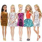 E-TING 5pcs Fashion Minikleid handgefertigte Kurze Kleid fr Barbie Puppen (5pc Kleid)