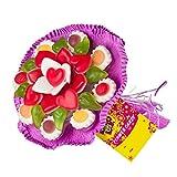 Fruchtgummi Blumenstrauß aus verschiedenen Fruchtgummi-Sorten, Geburtstag, Valentinstag, Muttertag,...