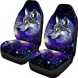 Coloranimal 3D Galaxy Wolf Pattern 2er-Set Autositzbezug Komplettes Zubehör für Auto Fit Mehr...