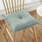 QYN Thicken Cotton Leinen Sitzauflage,einfarbige Tragbare Atmungsaktiv Stuhlkissen Soft Washable...