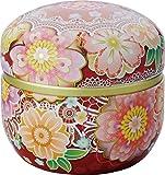 Japanische Teedose, Suzuko, weinrot, doppelter Deckel, perfekt für Sencha