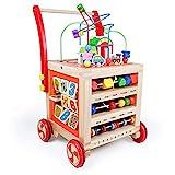 Lauflernwagen Baby Holz Lauflernhilfe-Laufwagen Gehhilfe Laufhilfe Baby Spielzeug ab 12 Monate,Baby...