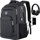 Schulrucksack Jungen, Rucksack Herren mit USB-Ladeanschluss, Wasserdicht Laptop Rucksack 15,6 Zoll...
