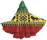Romance-and-Beauty Adult Cape Cloak Afrikanisches traditionelles Muster Löwen Rasta Jamaika Unisex...