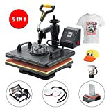 Sfeomi 5 in 1 Hitzepresse Heipresse Heat Press Machine 38x30cm Transferpresse Tassenpresse...