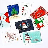 Weihnachtskarten mit Umschlag Set 32 Stück Weihnachtspostkarten Sprüche Christmas Cards Nostalgie...