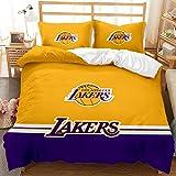 QXbecky Basketball-Logo, Bulls-Logo, Lakers-Bettwäsche, Bettbezug aus weicher Mikrofaser,...