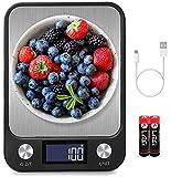 BENEFAST 1g bis 10 Kg Touch Control Digitale Küchenwaage, USB Aufladen, leuchtende LCD-Anzeige,...