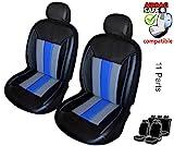 ATKKD4 - Qualität, Auto Sitzbezug Set, Schonbezug,11 Teilig Schwarz, Grau