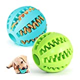2 Hundespielzeug Ball,Naturgummi mit Minzgeschmack Hund Feeder Ball,Trainingszahn...