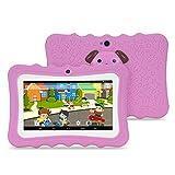 Kindertablette, 7 Zoll Tablets für Kids mit Lern-Apps Spielen Kindersicherung, Stoßfeste Leicht...