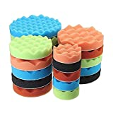 PYouo-Mini-Polierpads, 8pcs / Set Sponge Polieren Waxing Rauen Pads Kit, 3' 4' 5' 6' 7' for...