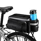 Betuy Fahrrad Satteltaschen mit Flaschenhalter, 7L Wasserdichte Rücksitztasche mit Reflexstreifen,...