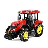 Toi-Toys Spielzeug-Traktor für Kinder, Traktor mit Licht und Ton ca. 27 cm (rot)
