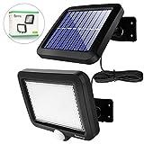 Solarlampen für Außen, 56 LED Solarleuchten mit Bewegungsmelder, IP65 Wasserdichte, 120°...